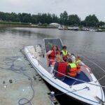 Unser neues Schulboot-eine erste Testfahrt